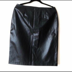 NWOT George Leather Skirt